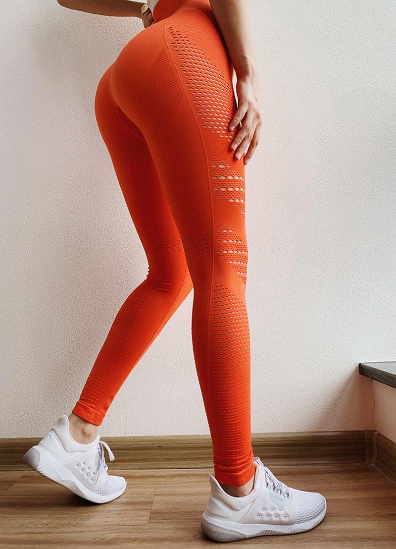 Oyoo Super Soft Skinny Seamless Yoga Leggings Sexy Pink Fitness Yoga Pants Women Push Up Workout Gym Leggings