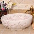 Boa qualidade de porcelana branca de cerâmica pias para banheiro lavar a mão bacia