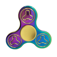 Rainbow Tri Spinner Ultra Speed Hand Spinner Fidget Toy For Autism And ADHD Anxiety Stress Relief