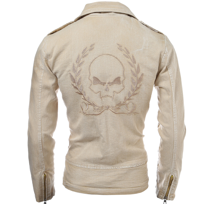 Fashion oblique zipper font b men s b font font b clothing b font outerwear short