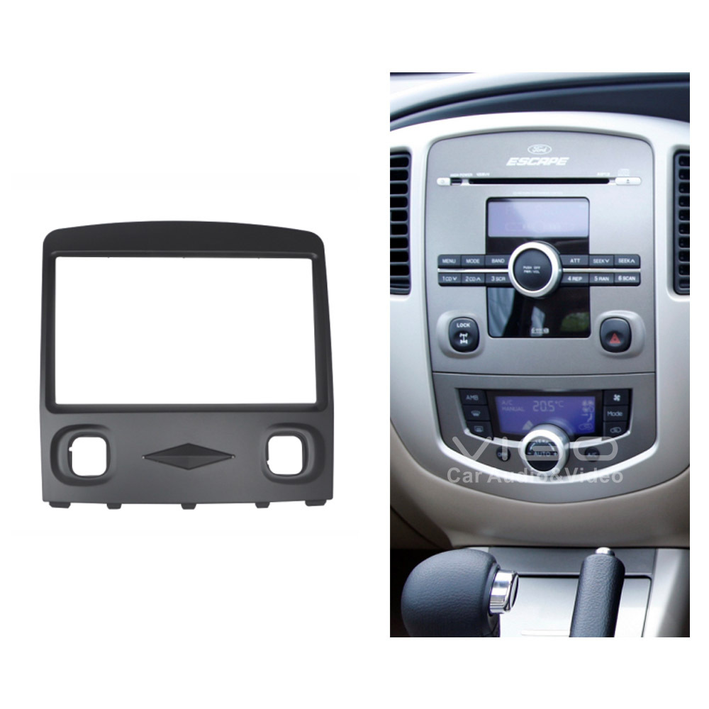 11 277 Car Radio Facia For Ford Escape Zd 2008 2010 Stereo Dash Kit Fascia Panel Wiring Fitting Install Face Plate Surround Frame Double Din In Fascias From Automobiles