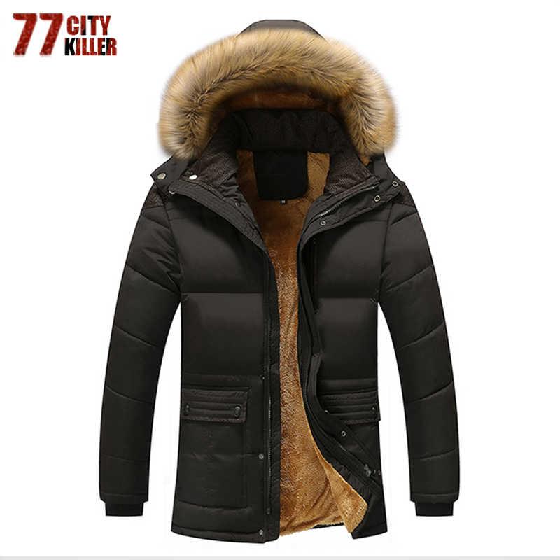 77 город убийца Для мужчин 5XL куртка 2017 бренд Повседневное мужские куртки и пальто толстая парка Теплая Для мужчин Верхняя одежда, куртки мужской Костюмы P114