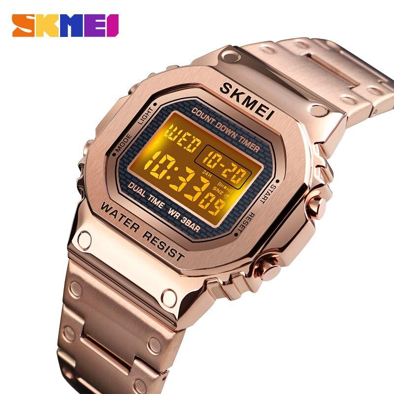 กีฬานาฬิกาอิเล็กทรอนิกส์ Mens นาฬิกาแบรนด์สุดหรูทหารชายนาฬิกากันน้ำนาฬิกาดิจิตอลนาฬิกา LED นาฬิกา Relogio Masculino SKMEI-ใน นาฬิกาข้อมือดิจิตอล จาก นาฬิกาข้อมือ บน AliExpress - 11.11_สิบเอ็ด สิบเอ็ดวันคนโสด 1