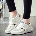 2016 verão novos sapatos de malha mulheres Coreanas sapatos casuais oco out respirável conforto quente alta qualidade DT512
