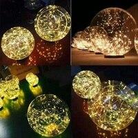 Diameter of 25cm Shiny star lights ball luminous balls Wedding Decoration Party Props
