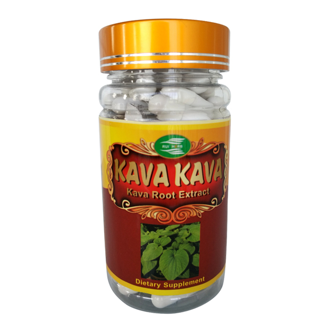 1Bottle Kava Extract 10% Kavalactones Capsule 400mg x 90pcs free shipping