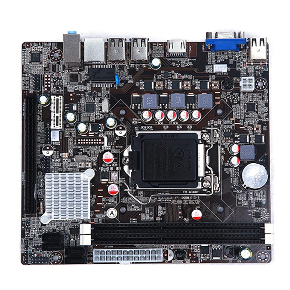 LGA 1155 carte mère pratique Stable pour Intel H61 Socket DDR3 mémoire 16GB carte de contrôle carte principale LGA1155 pour I3 I5 I7 Xeon