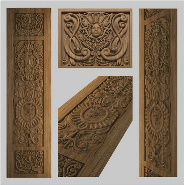 High quality 3D Model STL relief for cnc STL format Furniture--Door_1 3d model relief for cnc in stl file format animals and birds 2