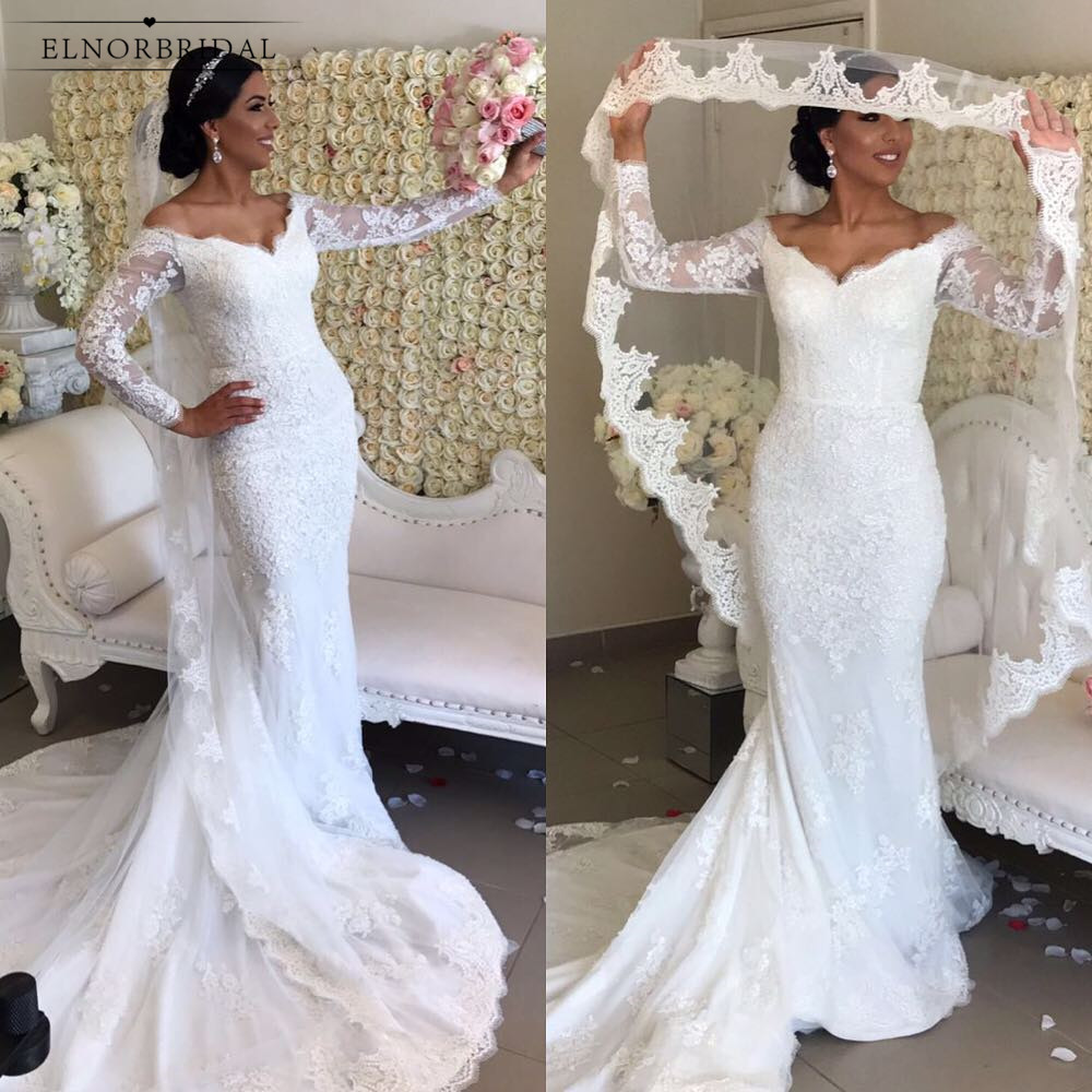 Wedding Gowns 2019 With Sleeves: Vintage African Mermaid Wedding Dresses 2019 Robe De