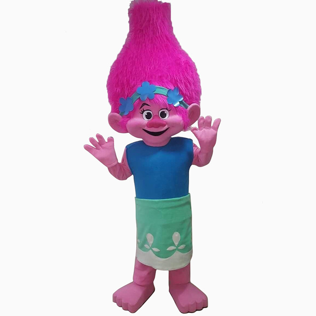 Poppy Branch From Dream works TROLLS Movie Costume Mascot Fancy Dress