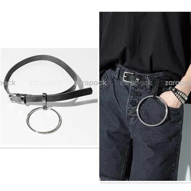 Diseñador de la Marca de Cuero Genuino O Anillo Partido Cinturón chic IT girl Cinturón Sm