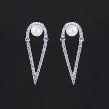 Brincos 2018 New Special Design Earrings For Women Hollow Spike Shape Shell Pearl Stud Earrings For Wedding Dress Party Jewelry