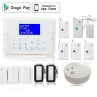 433MHz LCD Screen Gsm Pstn Home Alarm Security System Anti Theft Water Leak Detector Vibration Sensor