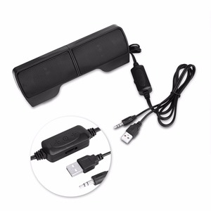 Image 4 - AINGSLIM Portable Mini Stereo Speaker USB Wired 3.5mm Jack Speakers for Notebook Laptop PC Desktop Tablet Music Player with Clip
