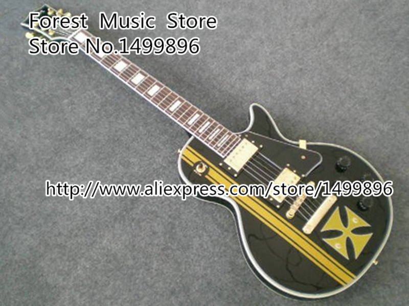 Top Selling China Custom Shop Black LP Custom Electric Guitar With Golden Hardware Left Handed Available high quality vintage green lp custom model electric china guitar with gold hardware left handed available