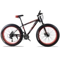 Горный велосипед алюминиевая рама 21/24 скорость велосипед фэтбайк Shimano механические тормоза 26 x 4.0 колеса длинные вилка жира велосипед дорож