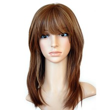 Kosher Jewish Wig Silk Base Lace Front Human Hair Wigs With Bangs Straight European Virgin Hair Wig With Baby Hair