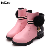 Yorkzaler Winter Children Boots 2017 Fashion Warm Soft Slip resistant Popular High Top Shoes White Red Pink Kids Boots For Girl