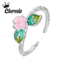 Chereda Hot Sale Fashion Female Ring for Women Colorful Drop Glaze Finger Rings Party Wedding Jewelry