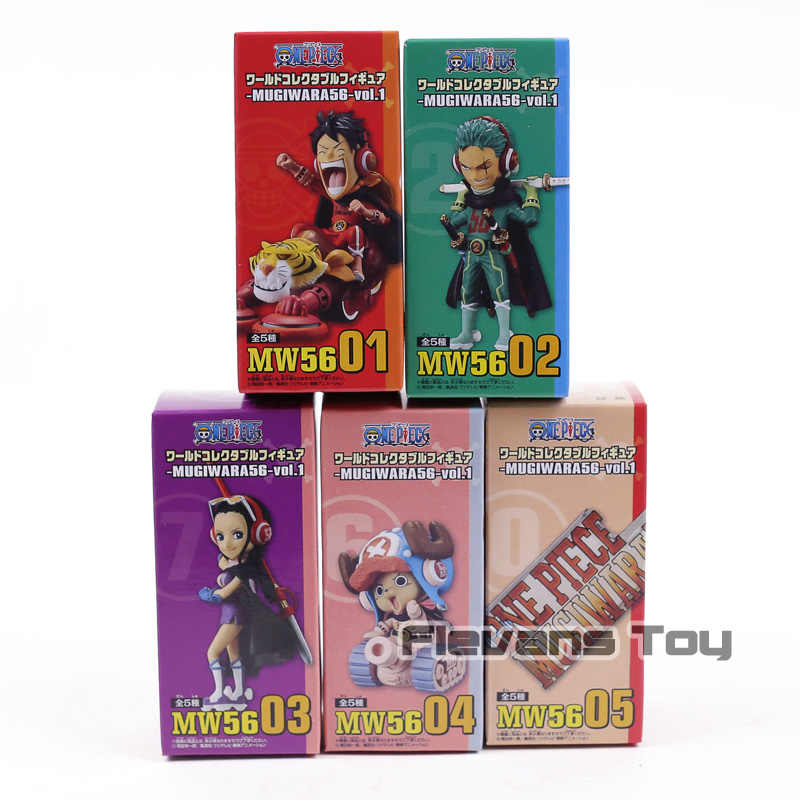 One Piece World Collectable Figure Mugiwara 56 Vol.1 Whole Set Of 5F//S