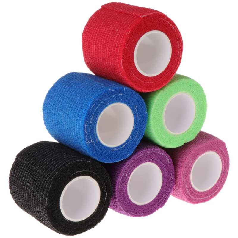 6pcs Self-adhesive Elastic Bandage สำหรับ Handle Grip Tube Tattoo Hot