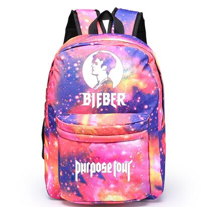 Justin Bieber Backpack Fashion Casual Backpack Teenagers Men Women's Student School Bags Travel Shoulder Bag Laptop Bags