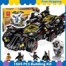 1504pcs Super Heroes Batman Filme The Ultimate Conjunto Batmobile 10740 Blocos de Construção do Modelo Define Presentes Moives Compatível Com Lego(China)