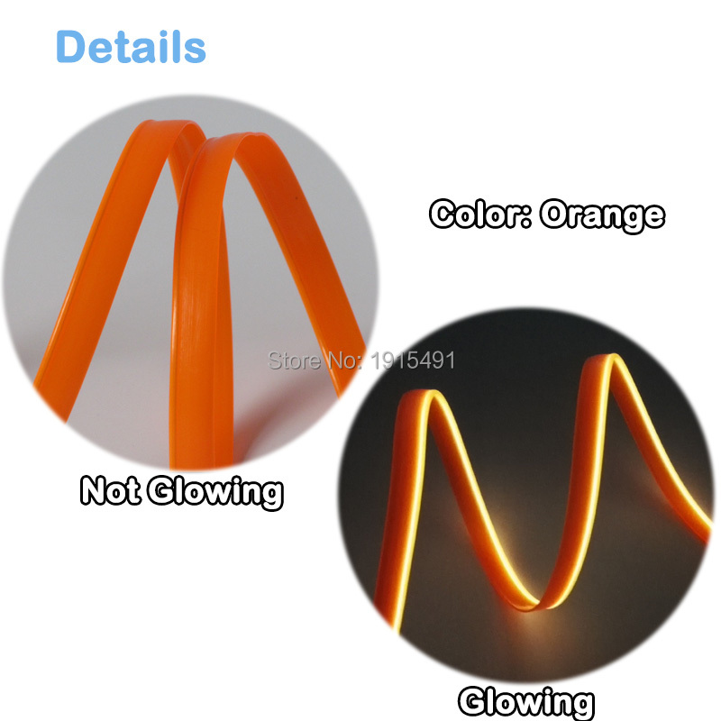 Neue Arrivel Bunte Orange 3 Meter Kits 2,3mm Rock Neon Leuchtende ...