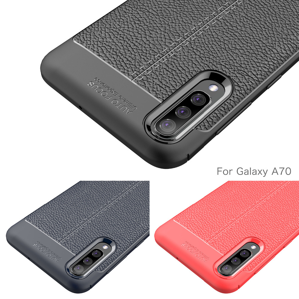 Luxury Silicone <font><b>Case</b></font> <font><b>For</b></font> <font><b>Samsung</b></font> galaxy A70 A50 A40 <font><b>A30</b></font> A10 Cover Carbon Fiber Soft Back Phone Cover <font><b>Shockproof</b></font> funda Coque Etui image