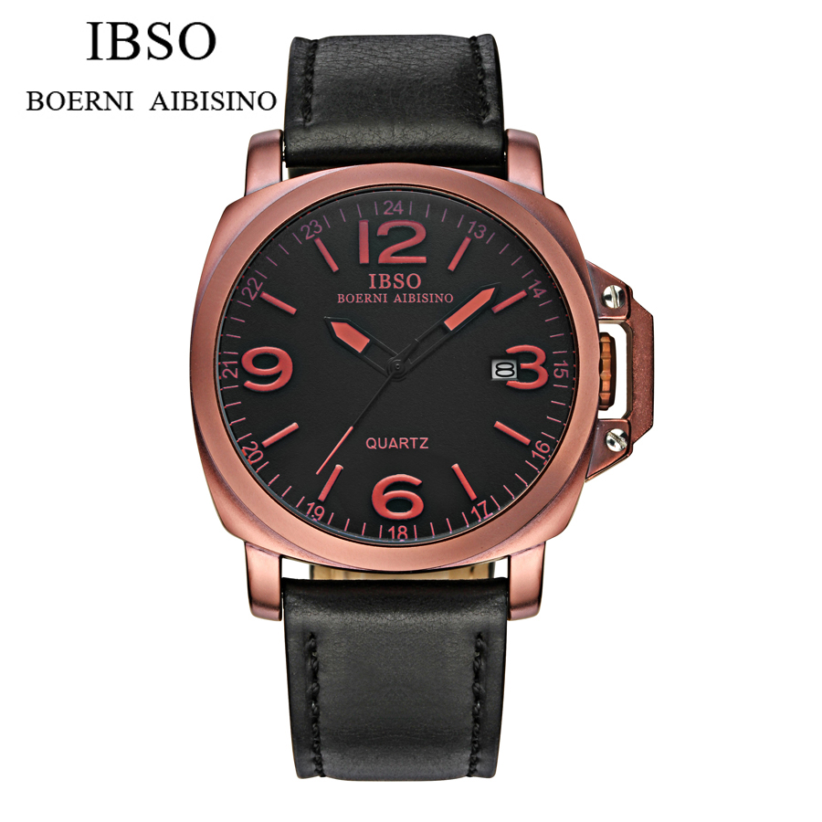 IBSO Wristwatch fashion casual Design military quartz watches men Luxury Brand relogio masculino out sport clock reloj watch mens watch top luxury brand fashion hollow clock male casual sport wristwatch men pirate skull style quartz watch reloj homber