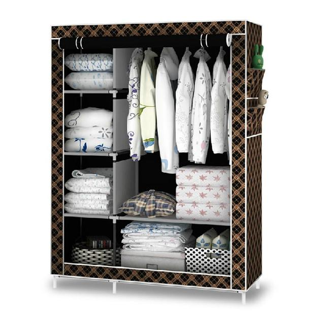 Wardrobe cupboard Bedroom Furniture armario closet  armadio with shoe rack 8 colors