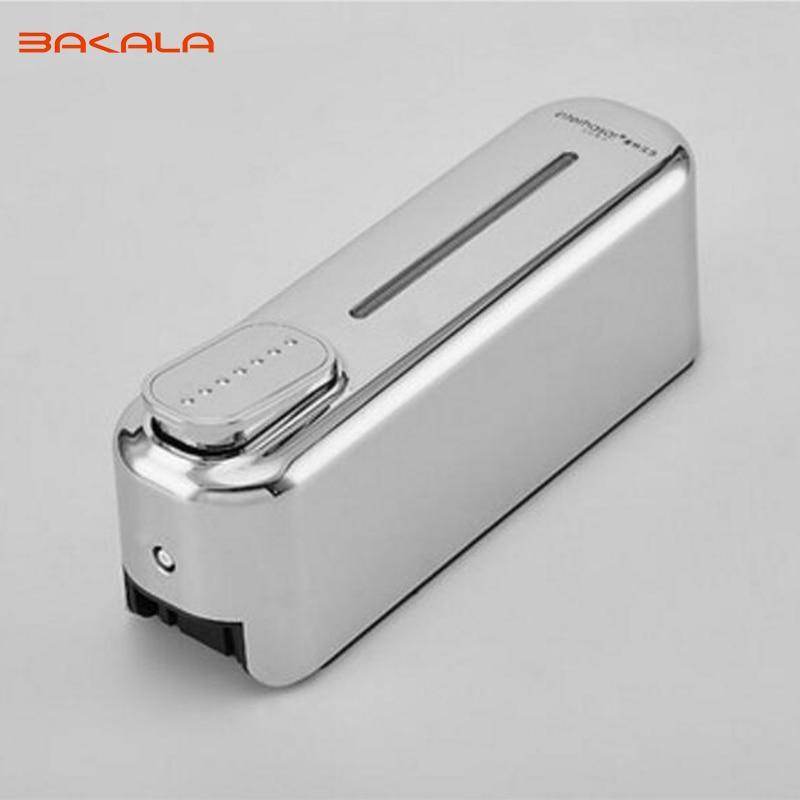 BAKALA Wall Mounted Shampoo Soap Dispenser Chrome Finish Square Liquid Soap Bottle Bathroom Accessories 500ml X1P