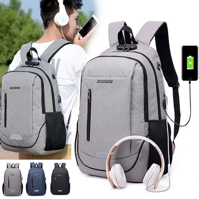 Glorious Adisputent Laptop Backpack Business Anti Theft Waterproof Travel Backpack With Usb For Women Men Men's Bags Luggage & Bags