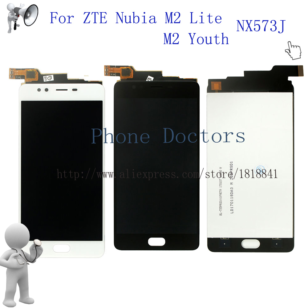 For Nubia M2 Youth Edition Full LCD DIsplay Touch Screen Digitizer Assembly For ZTE Nubia M2 Lite / M2 Youth NX573J LCD Replace
