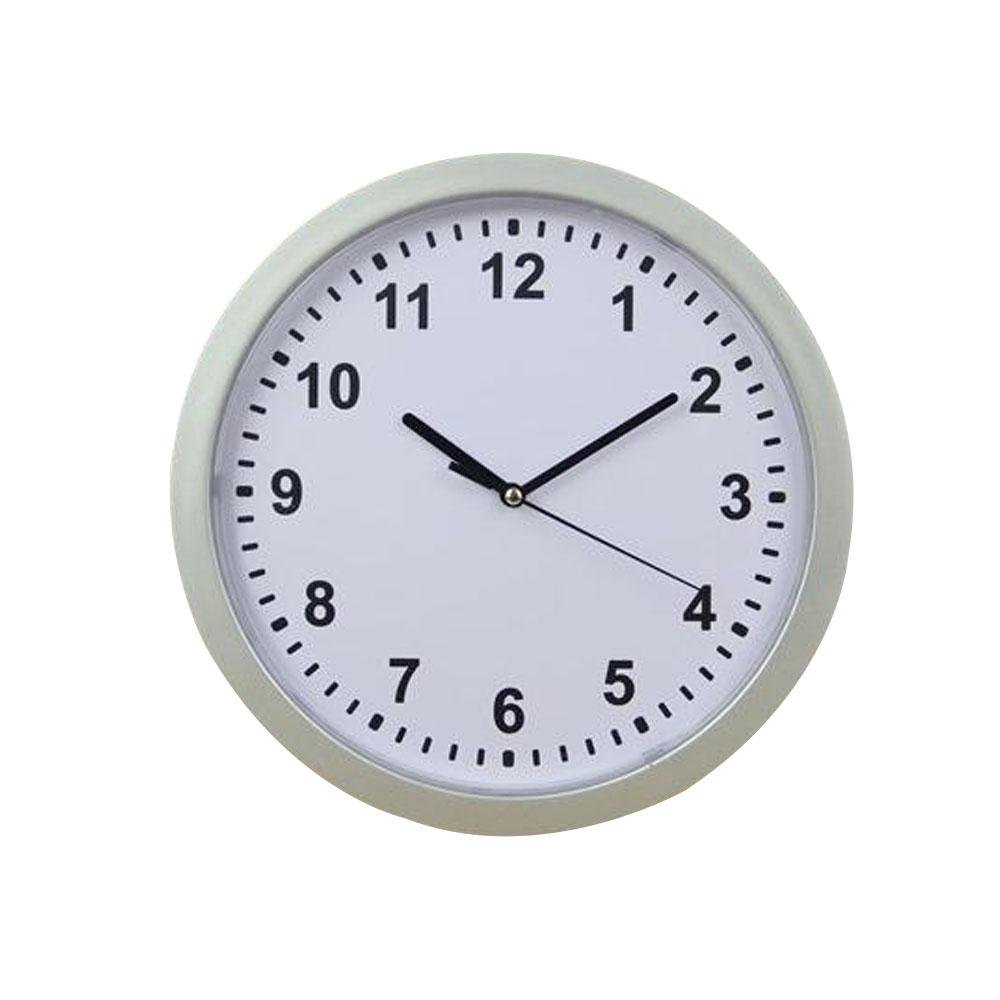 """Safe Clock Hidden Compartment Wall Clock 10"""" Battery Operated Secret Interior Storage Jewelry Cash Valuables So On"""