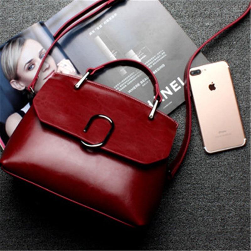 Vintage Women Messenger Bags Fashion Brand Handbags Casual Crossbody Bag Metal Design Handbags High Quality Women Bag