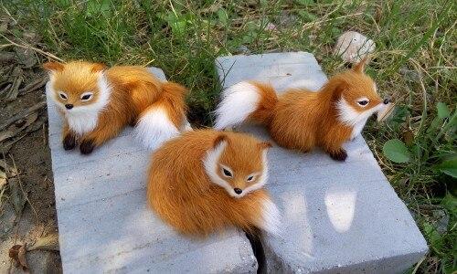 fox cute toys toy yellow animal doll xmas simulation plush dolls pieces gift mini