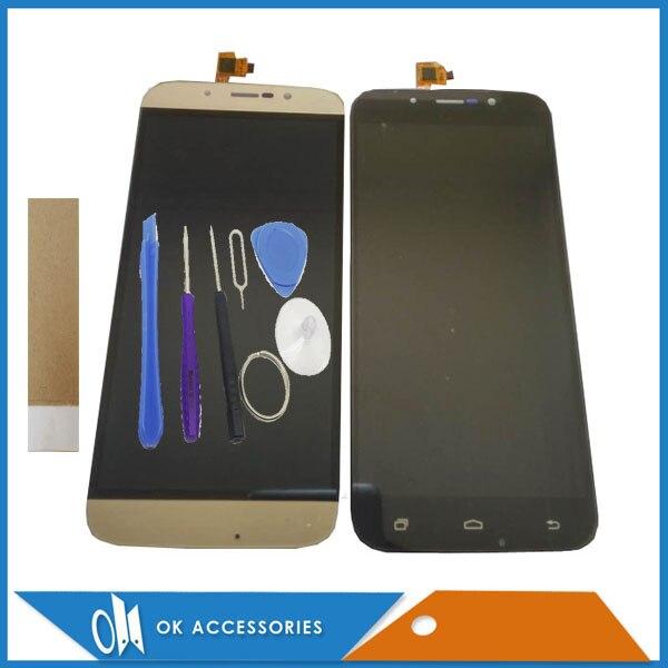 Noir Or Couleur Pour DEXP Ixion ES255 Feu Version WSC05521 LCD Display + Écran Tactile Digitizer Assemblée Avec Des Outils Bande 1 PC/Lot