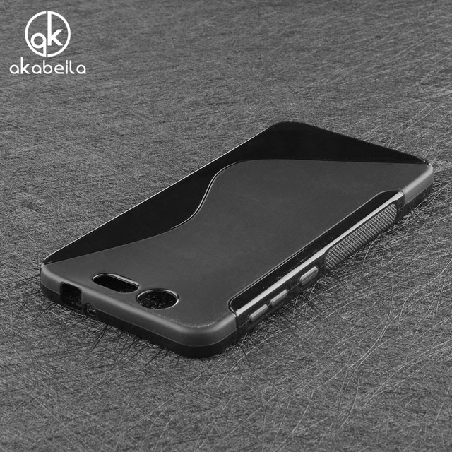 AKABEILA Soft Silicone Phone Cases For ZTE X7 V6 ZTE Blade D6 V6 S7 X4 Z956 Case Shell Capa Phone Bag Cover