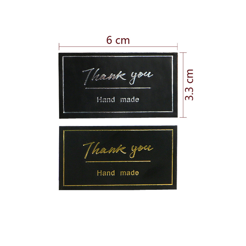 Купить с кэшбэком 60pcs/lot New THANK YOU Handmade Black Self-adhesive Sealing Sticker Baking Seal  Label Sticker