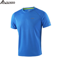 ARSUXEO 2016 Summer Men S Running T Shirts Active Short Sleeves Quick Dry Training Jersey Sports