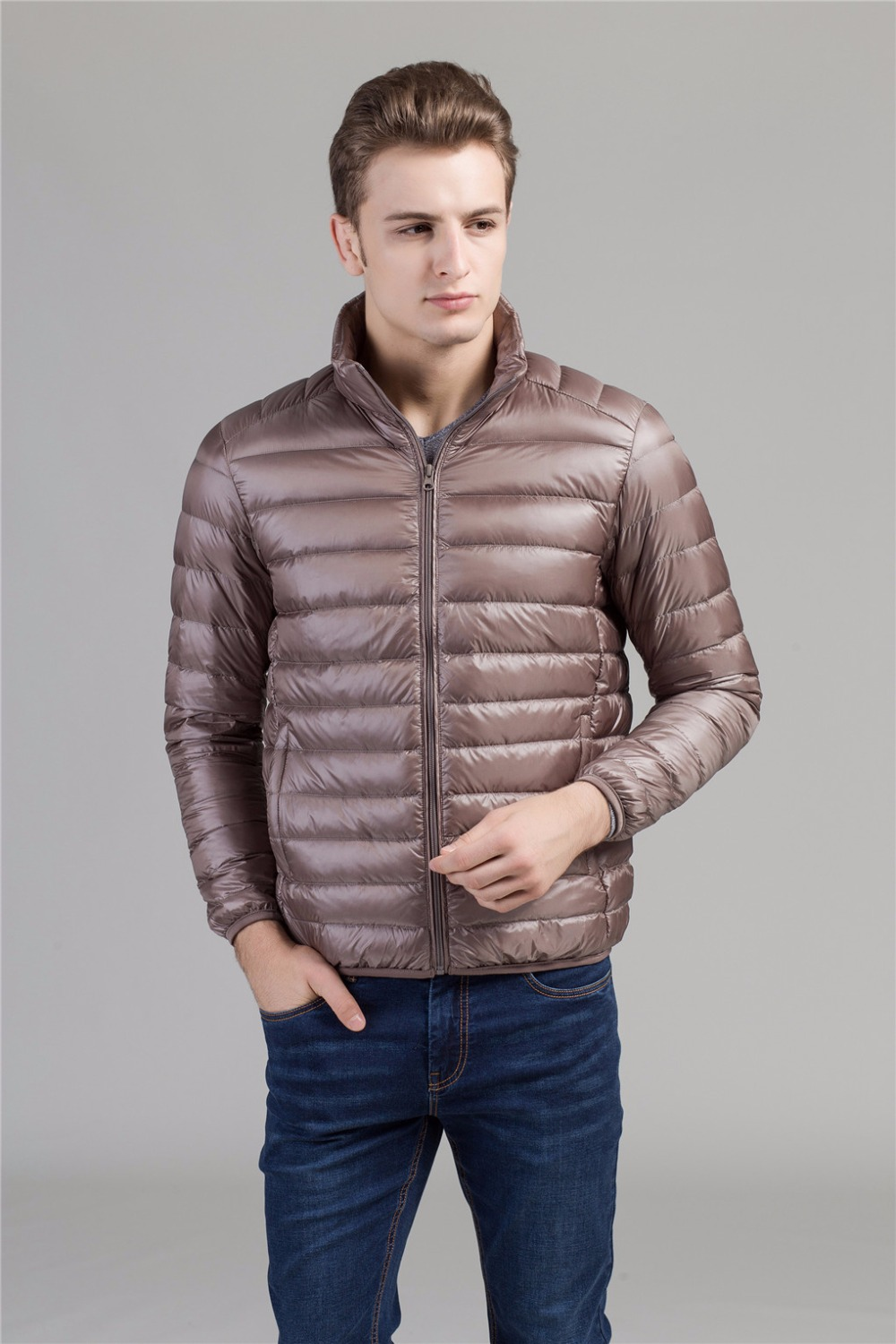 Shanghai Story Autumn Winter Duck Down Jacket, Ultra Light Thin plus size winter jacket for men Fashion mens Outerwear coat
