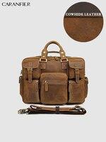 CARANFIER мужская дорожная сумка Crazy Horse Натуральная яловая кожа роскошный мульти карман большой емкости деловая сумка багажная сумка