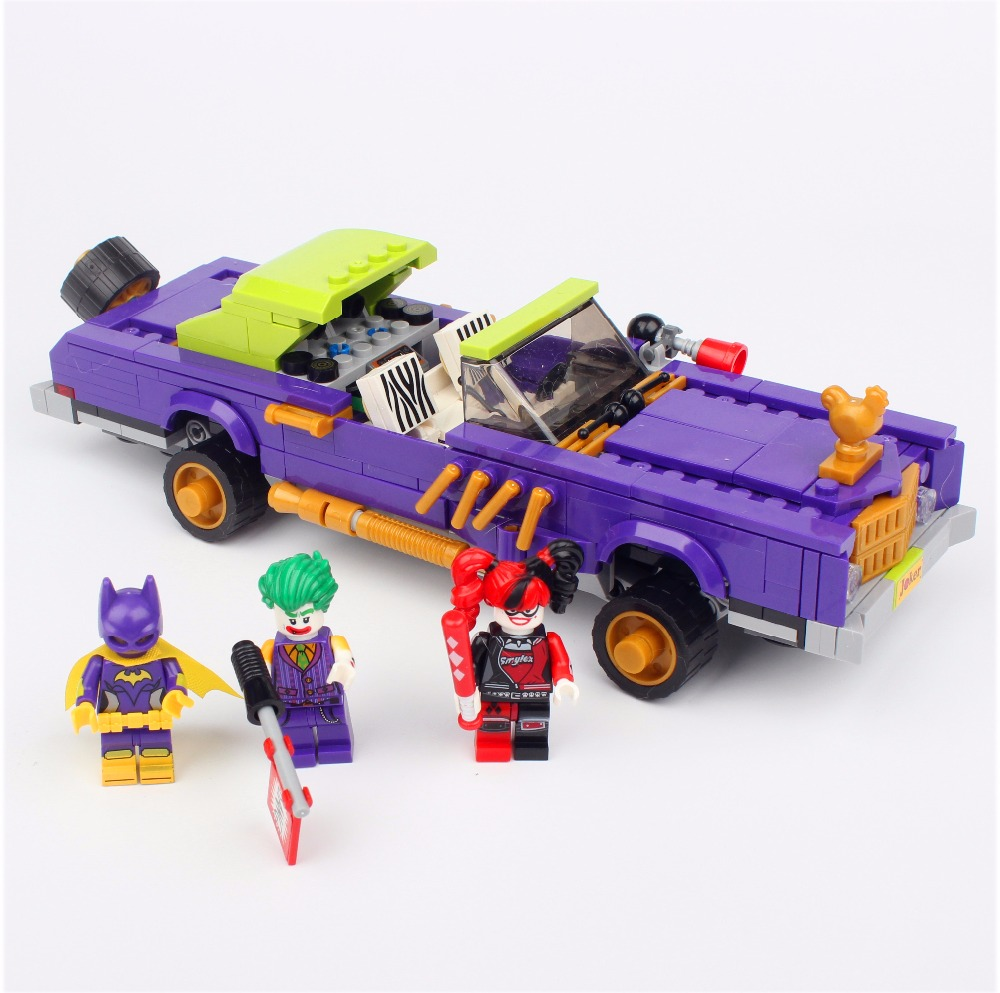 LEPIN 07046 Batman Movie The Joker Notorious Lowrider Harley Quinn 70906 Building Block Toys Gift For Children Batman 443pcs super heroes batman movie 07046 the joker notorious lowrider diy model building kit blocks gift toys compatible with lego