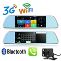 Новый 7 дюймов 3 Г GPS DVR Android 5.0 Wi-Fi Bluetooth Телефон Call Full HD 1080 P Зеркало Заднего вида Двойная Камера 1 Г RAM GPS DVR