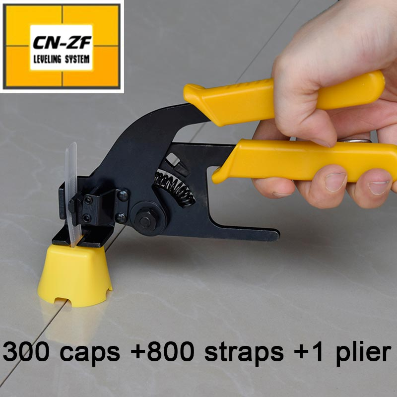 Tile leveling system spacer clip-make wall floor level construction tool-include 300caps 800straps 1plier=ZF-G300 thyssen parts leveling sensor yg 39g1k door zone switch leveling photoelectric sensors