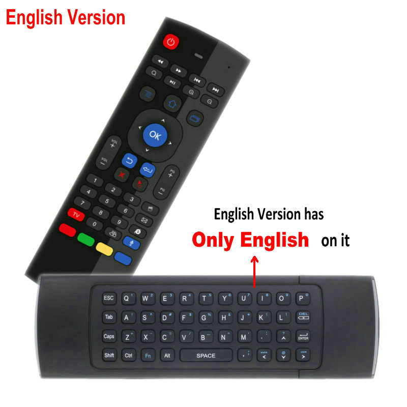 Image 5 - TK3 2.4G Wireless Fly Air Mouse Keyboard Russian English 44 IR Learning Voice for Android Smart TV Box PK MX3 G30 Remote controlRemote Controls   - AliExpress