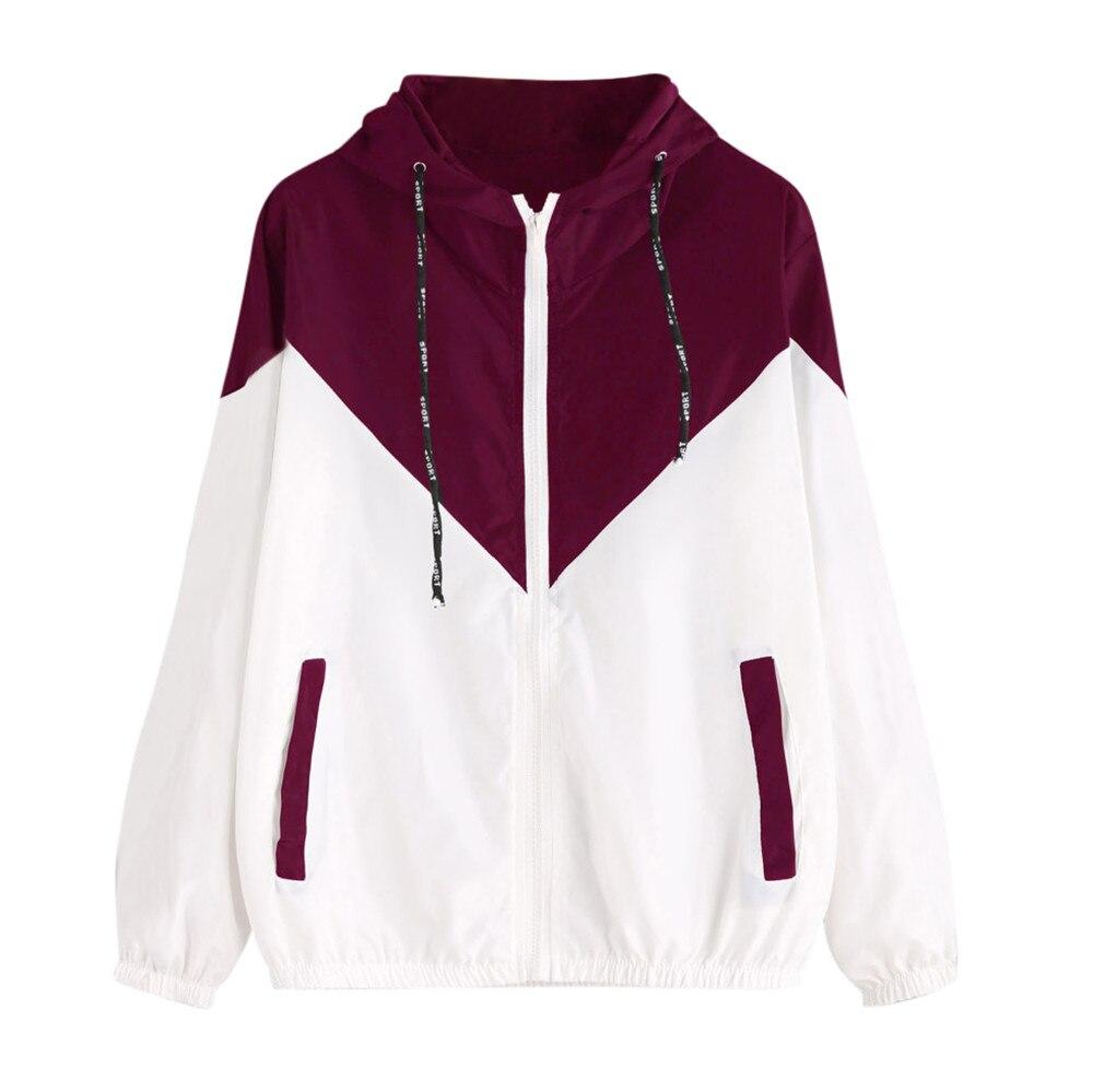 Summer Women's Hooded   Jackets   Causal windbreaker Women   Basic     Jackets   Coats Sweater Zipper Lightweight   Jackets   Bomber Famale 2#
