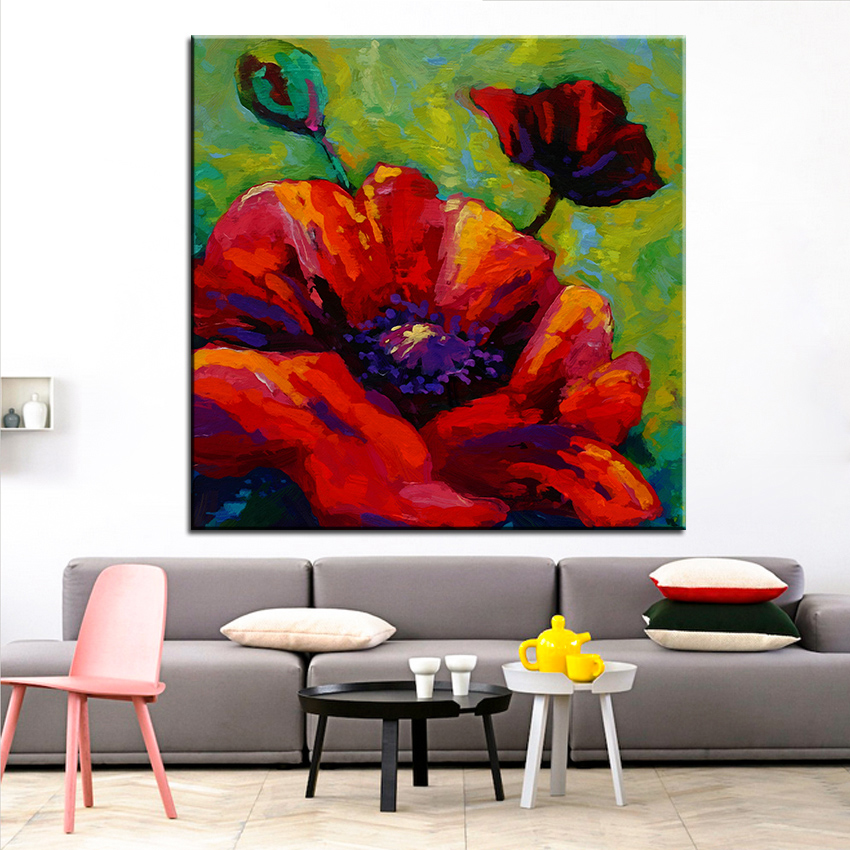 Large size Printing Oil Painting red poppy Wall painting Ste&unk Wall Art Picture For Living Room painting No Frame-in Painting u0026 Calligraphy from Home ... & Large size Printing Oil Painting red poppy Wall painting Steampunk ...