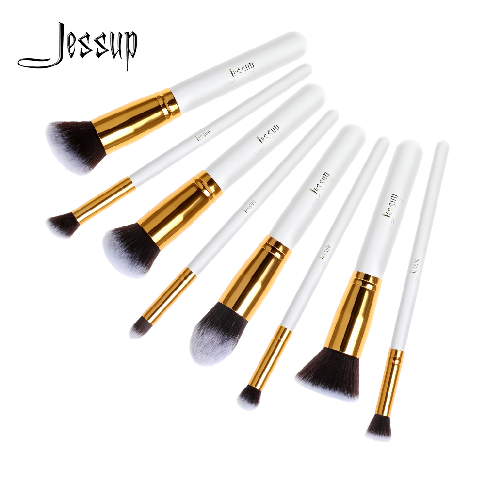 Jessup Professional 8pcs Foundation Blush Liquid Kabuki Brush Makeup Brushes Tools Set Beauty Cosmetics kit T079 professional 10pcs blue silver jessup makeup brushes sets beauty kit foundation kabuki precision brush cosmetics make up tools